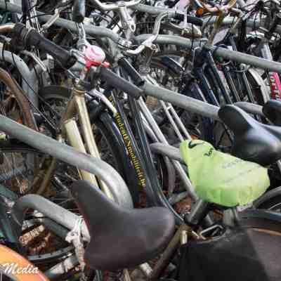 Bikes parked in Ghent