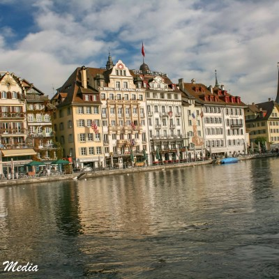 Lucerne along the Reuss River