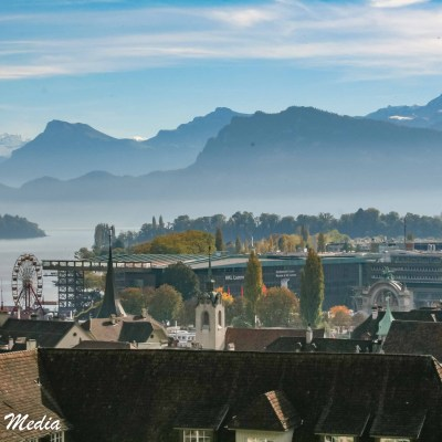 View of Lucerne from the Musegg Wall