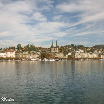 The beautiful Lake Lucerne and the city of Lucerne