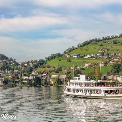 Boat ferry on Lake Lucerne