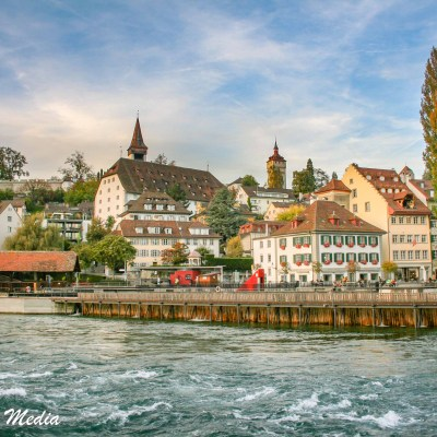 The Reuss River in Lucerne