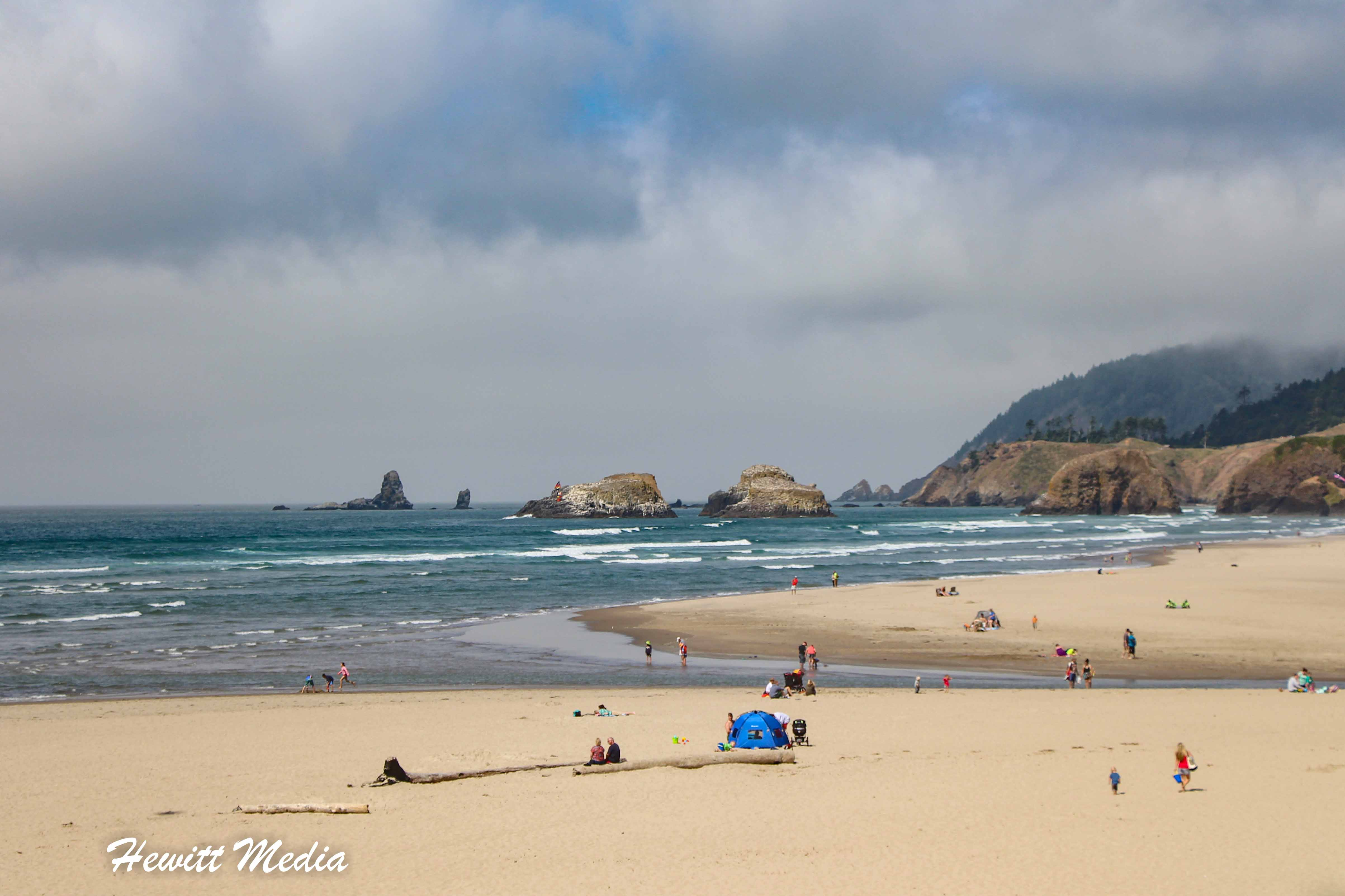 The beach near Canon Beach