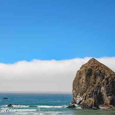 Haystack Rock off the coast of Canon Beach