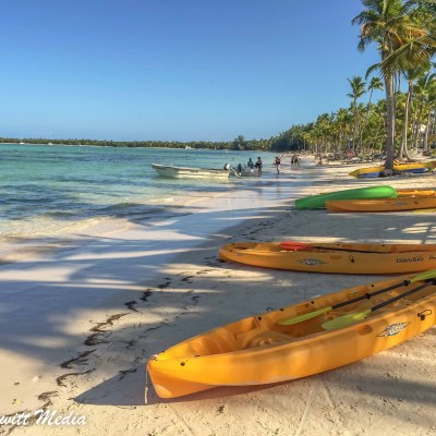 Sea Kayaks on the beach in Punta Cana