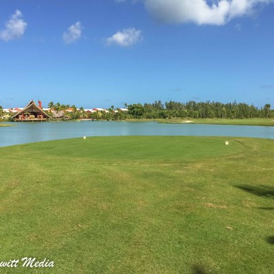 Golfing at the Lake Barcelo golf course