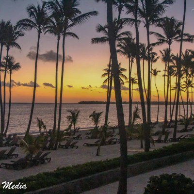 Gorgeous sunset in Punta Cana