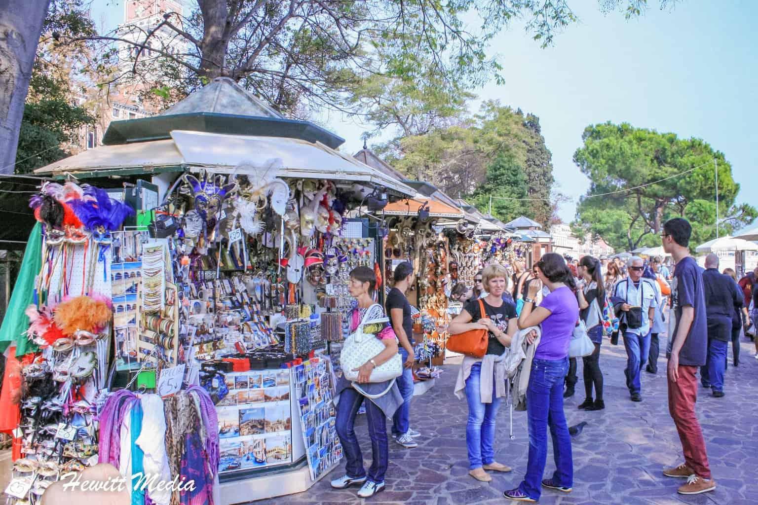 Street vendors in Venice, Italy