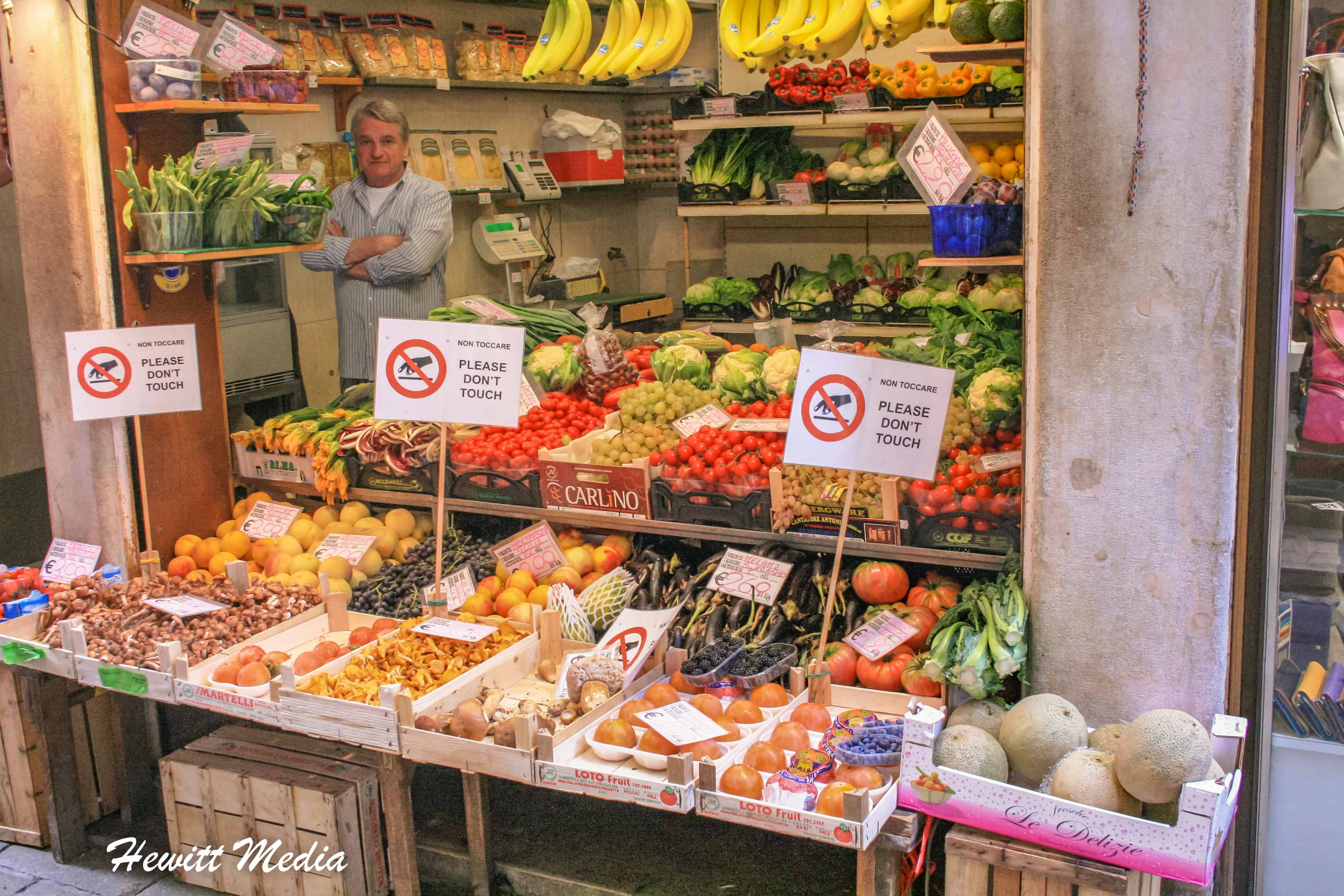 Fresh fruit and vegetables in Venice