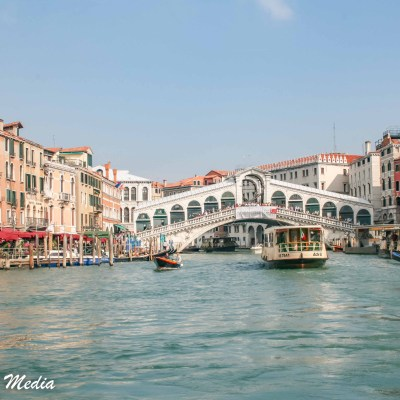 The Grand Canal and Rialto Bridge