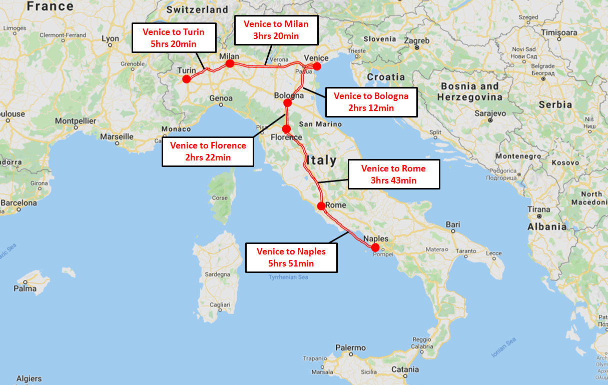 Venice Train Map
