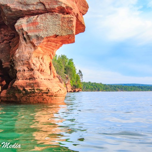 The shoreline of the Apostle Islands