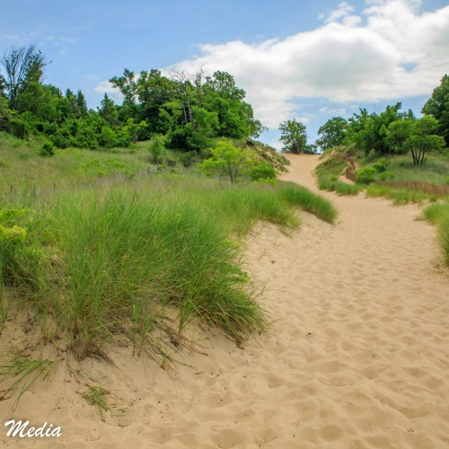 Hiking in the dunes