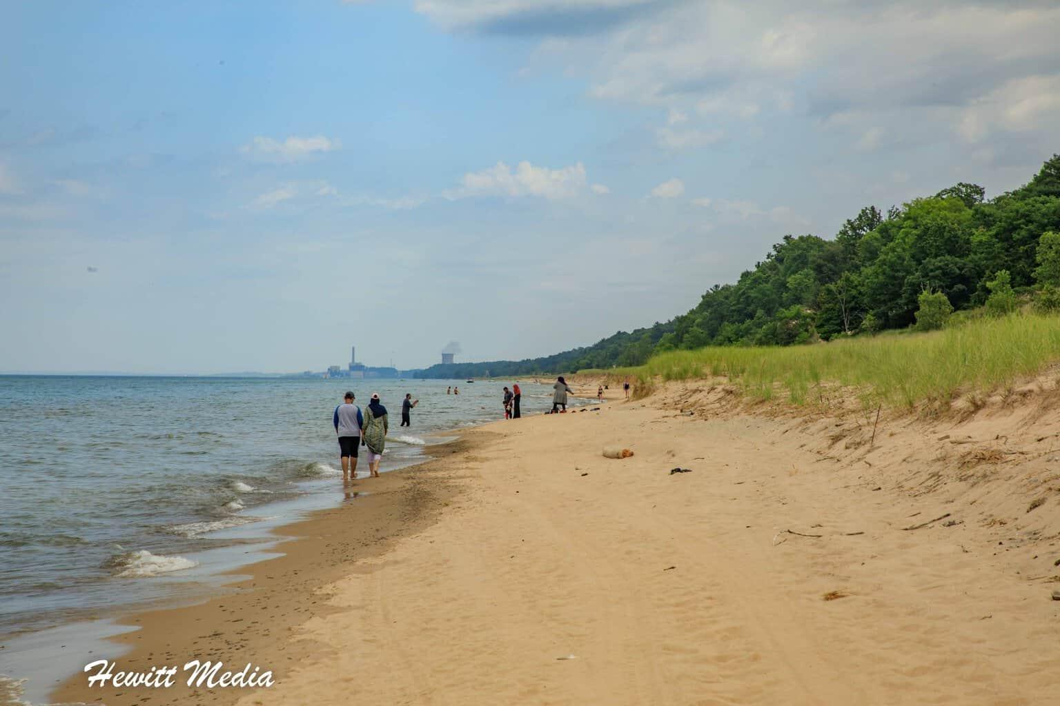 Beach walking in Indiana Dunes