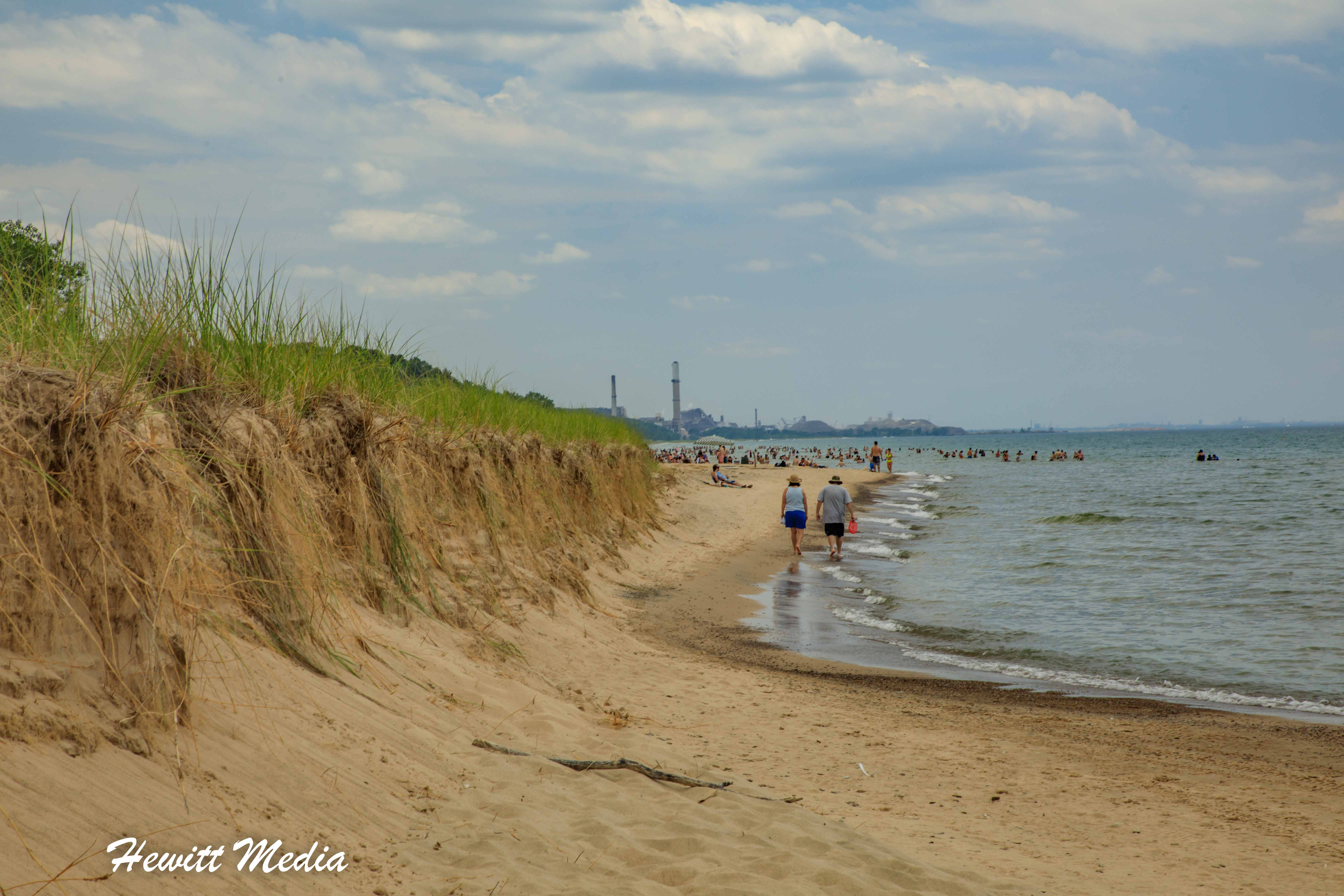 Beach Walking in Indiana Dunes State Park