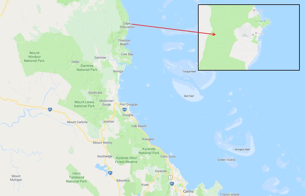 Cape Tribulation - Photo Map