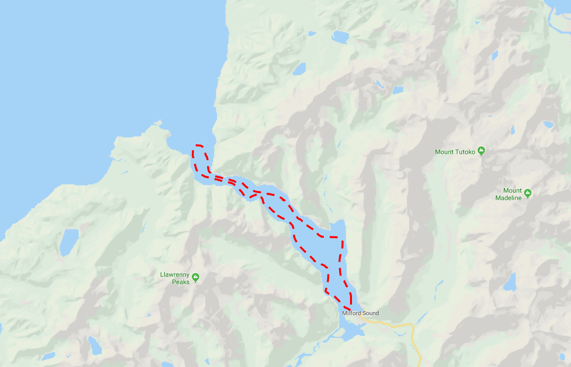 Milford Sound Cruise - Photo Map