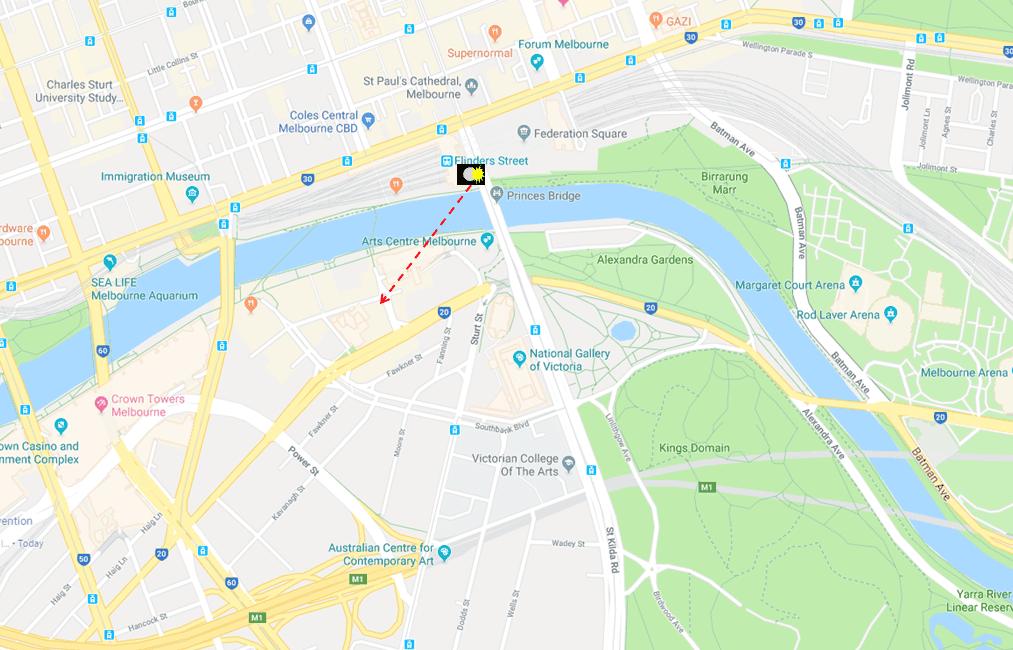 Southgate from Princes Bridge - Photo Map