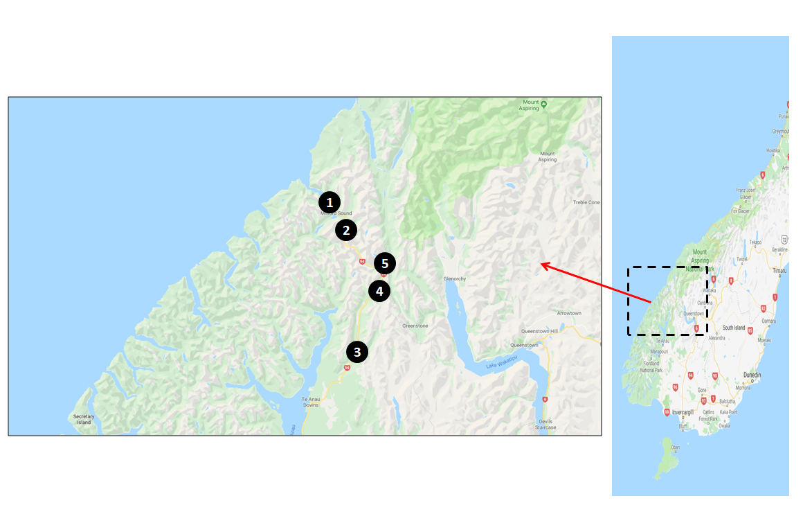 Te Anau Photography Map