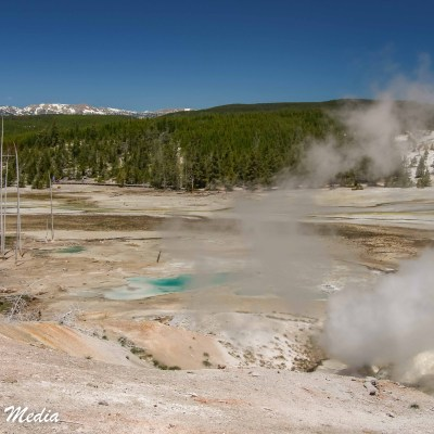 The Norris Geyser Basin