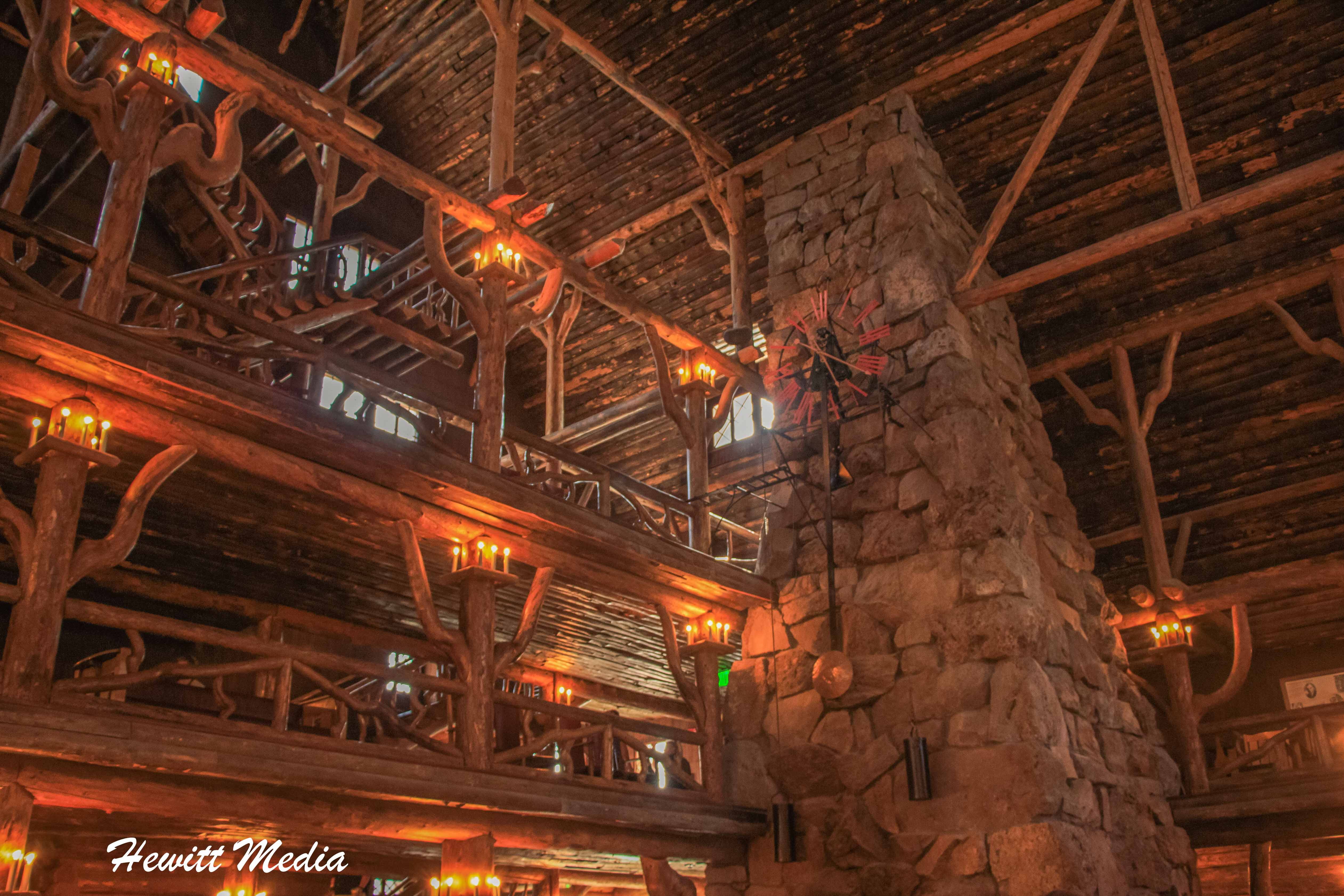 Inside of the Old Faithful Lodge in yellowstone
