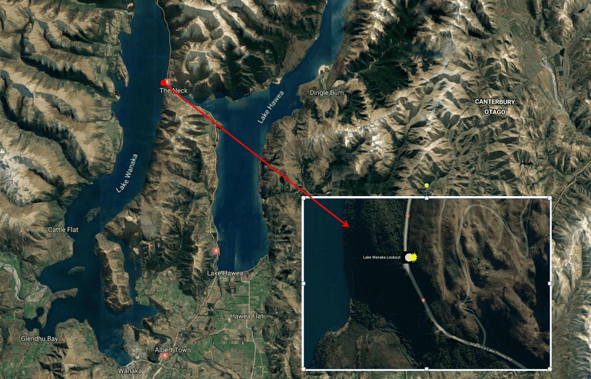 Lake Wanaka Lookout - Photo Map