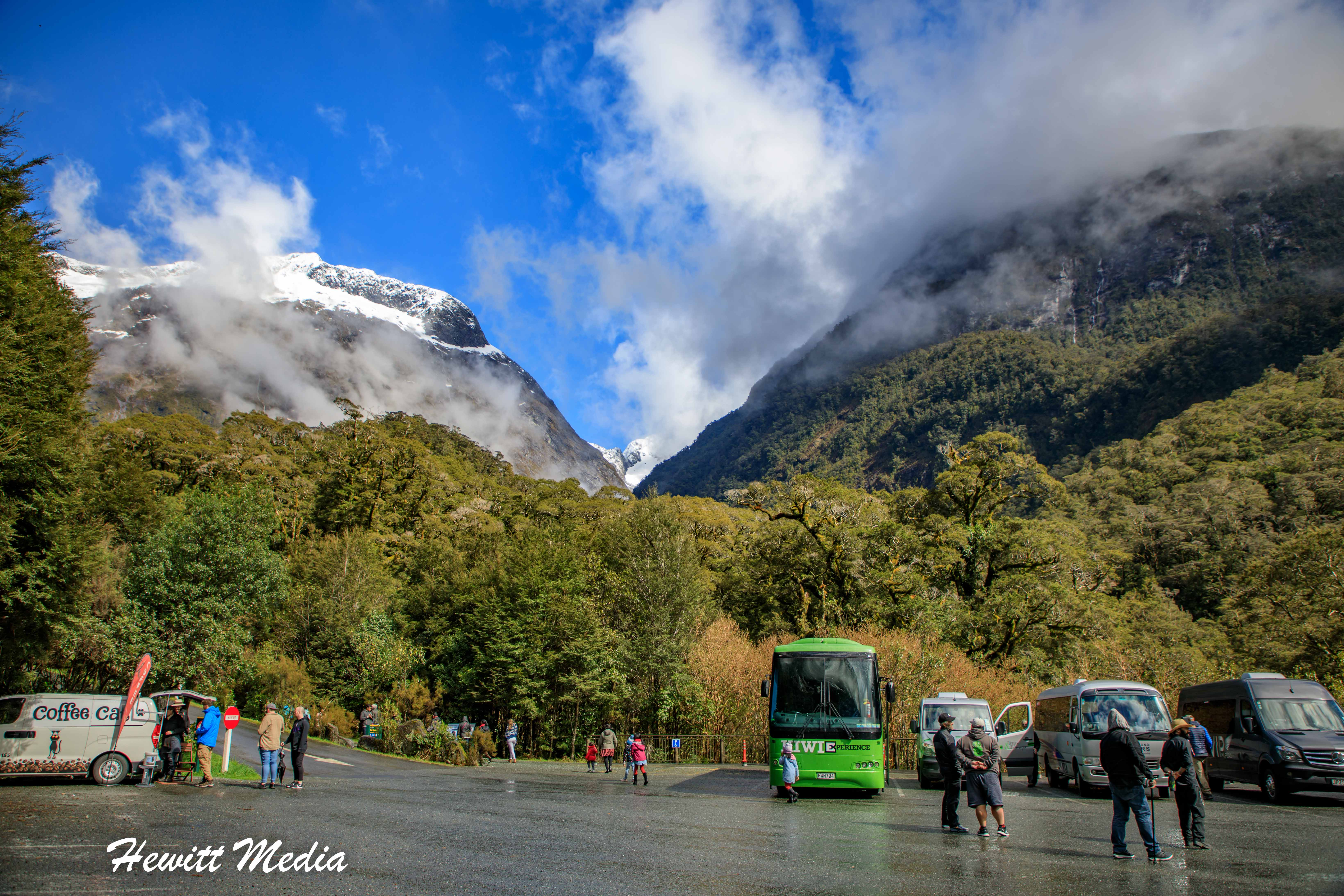 Parking Lot at Milford Sound Harbor