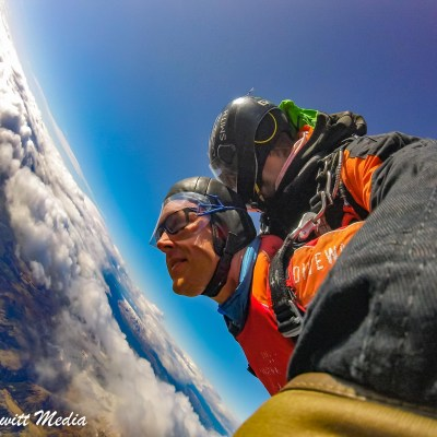 60 seconds of free fall from 12,000 feet