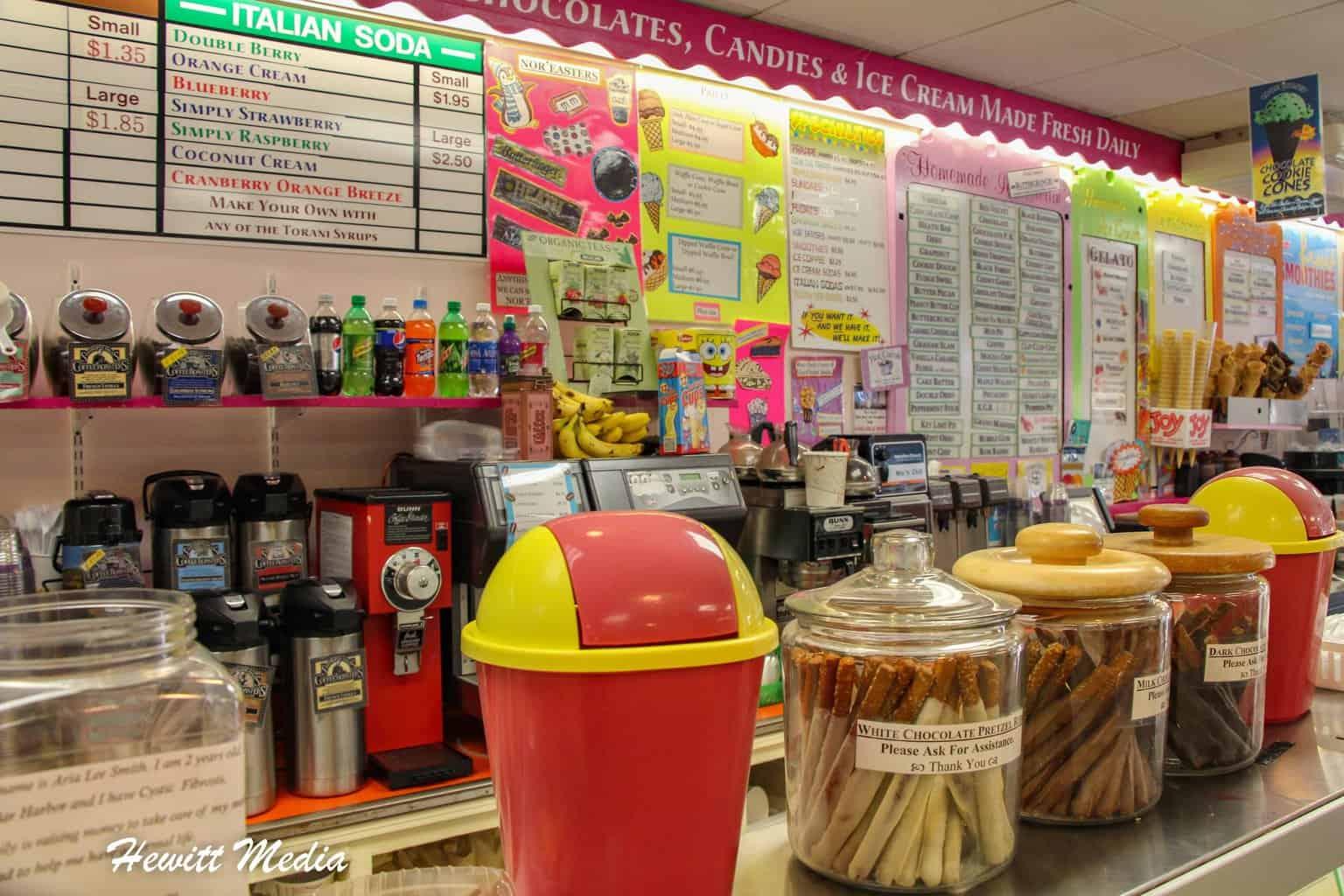 Ice Cream Shop in Bar Harbor
