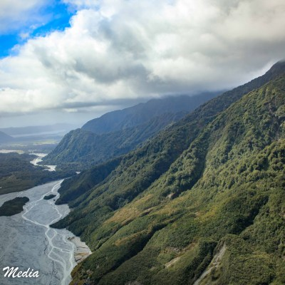 The Franz Josef Glacier glacial valley