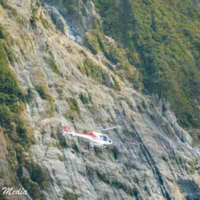 Helicopter near Franz Josef Glacier
