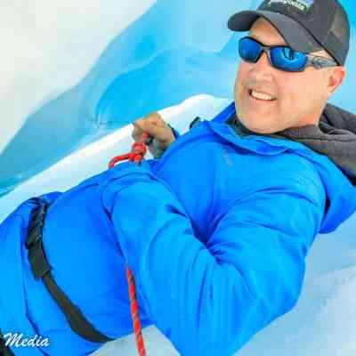 Practicing my rope skills on Franz Josef Glacier
