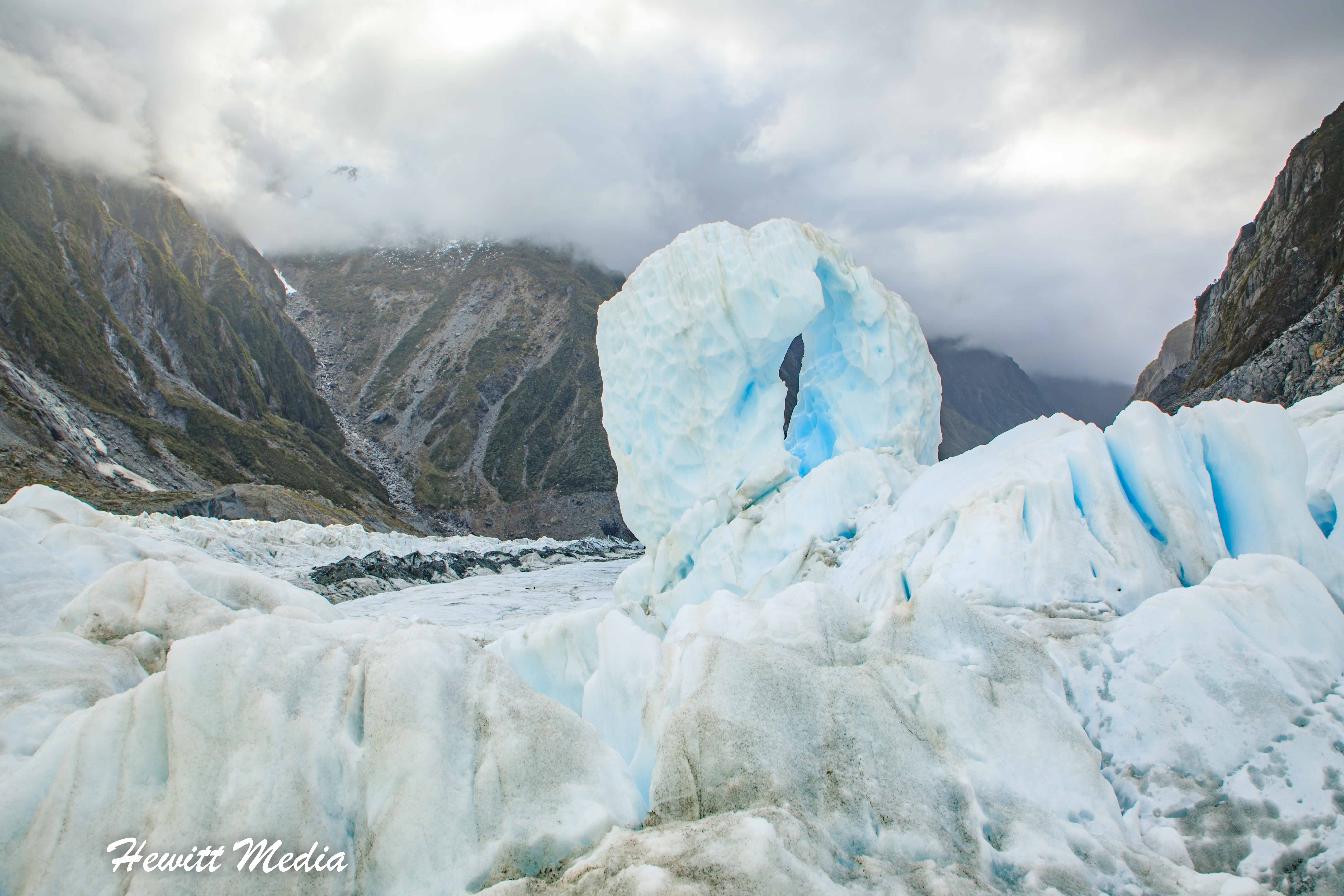 Ice formations on Franz Josef Glacier
