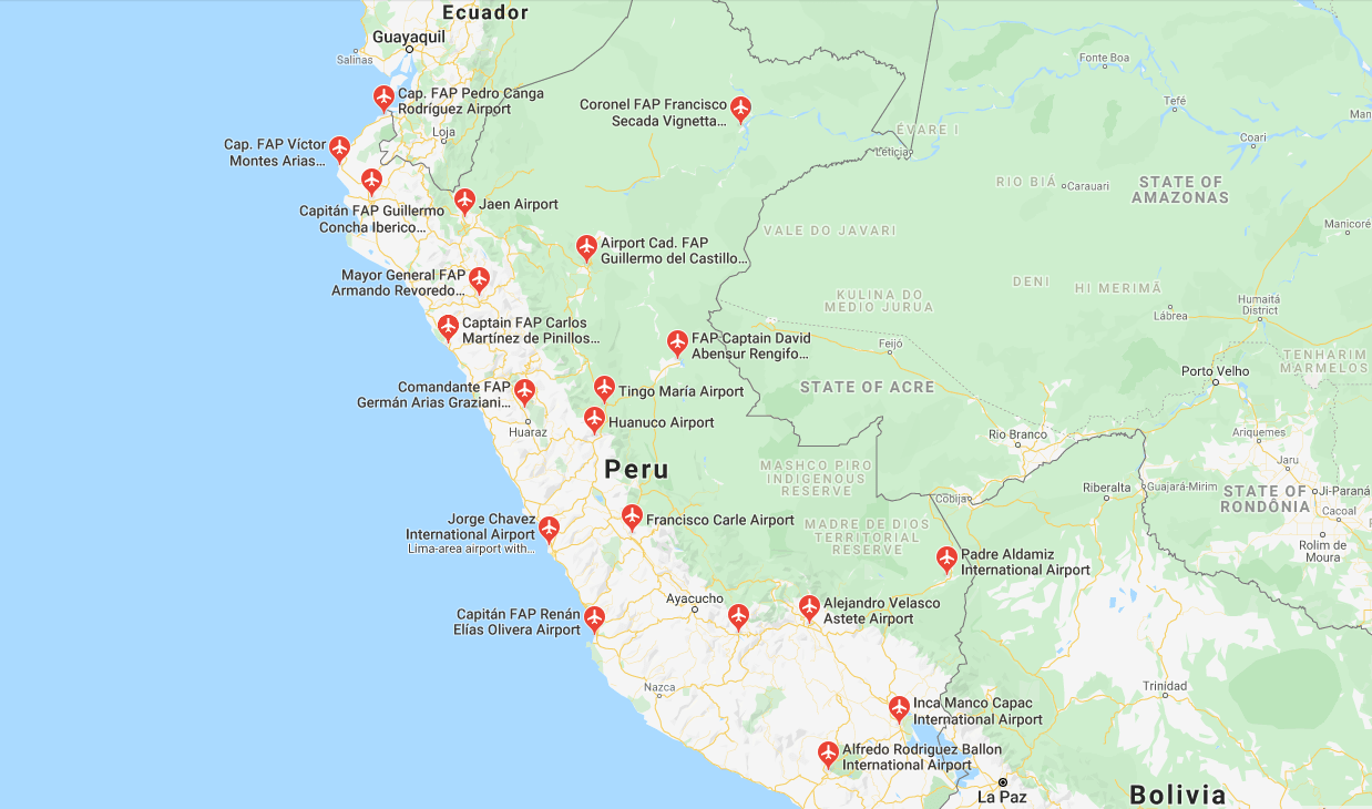 Getting to Lima - Airport Map