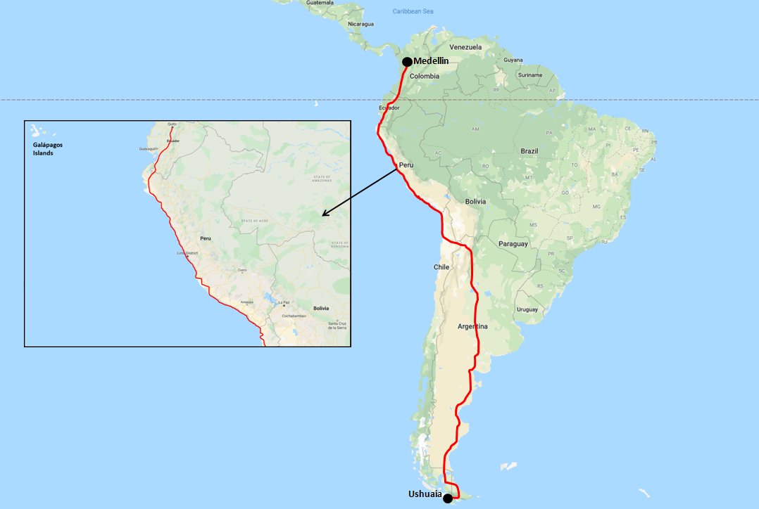Getting to Lima - Driving Map