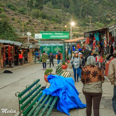 The Train Station at Ollantaytambo