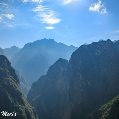The Andes Mountains surrounding Machu Picchu