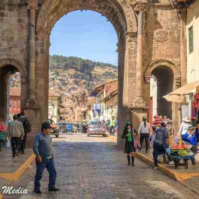 Arco de Santa Clara in Cusco, Peru