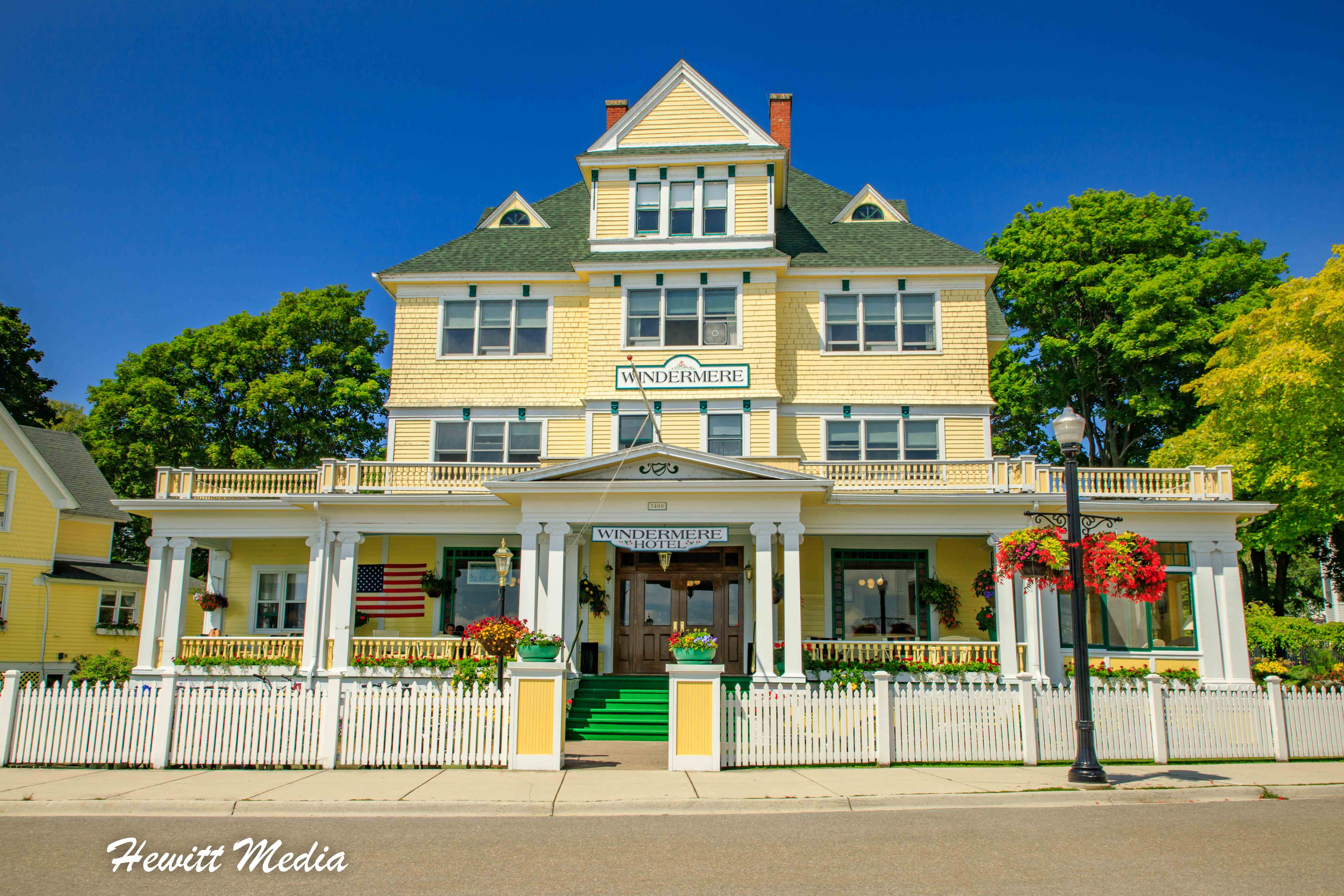 The Beautiful Windermere Hotel on Mackinac Island