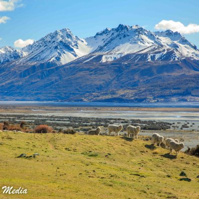 The drive to Aoraki/Mount Cook National Park