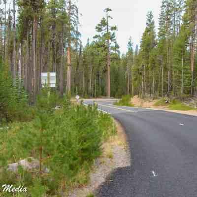 Entering Crater Lake National Park