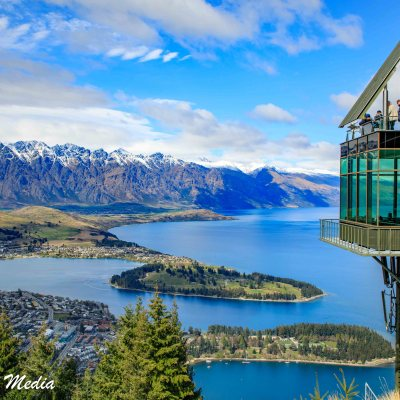 Queenstown from the Stratosfare Restaurant