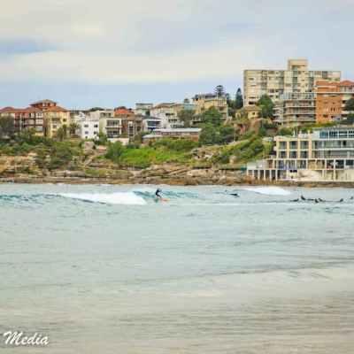 Surfers at Bondi Beach