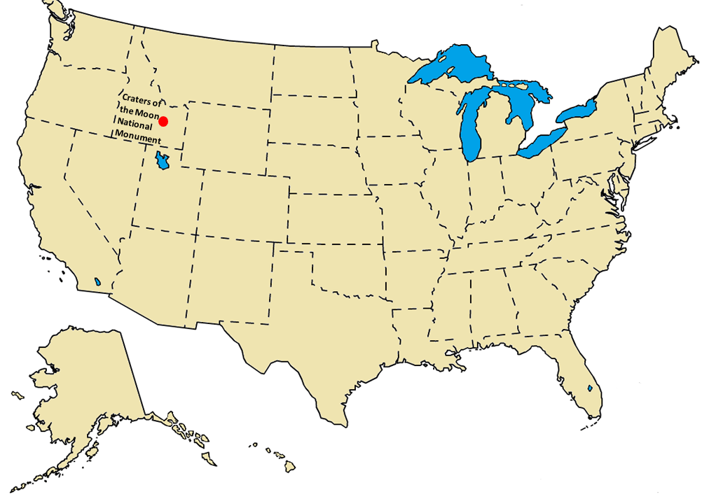 Craters of the Moon National Monument Parks Map