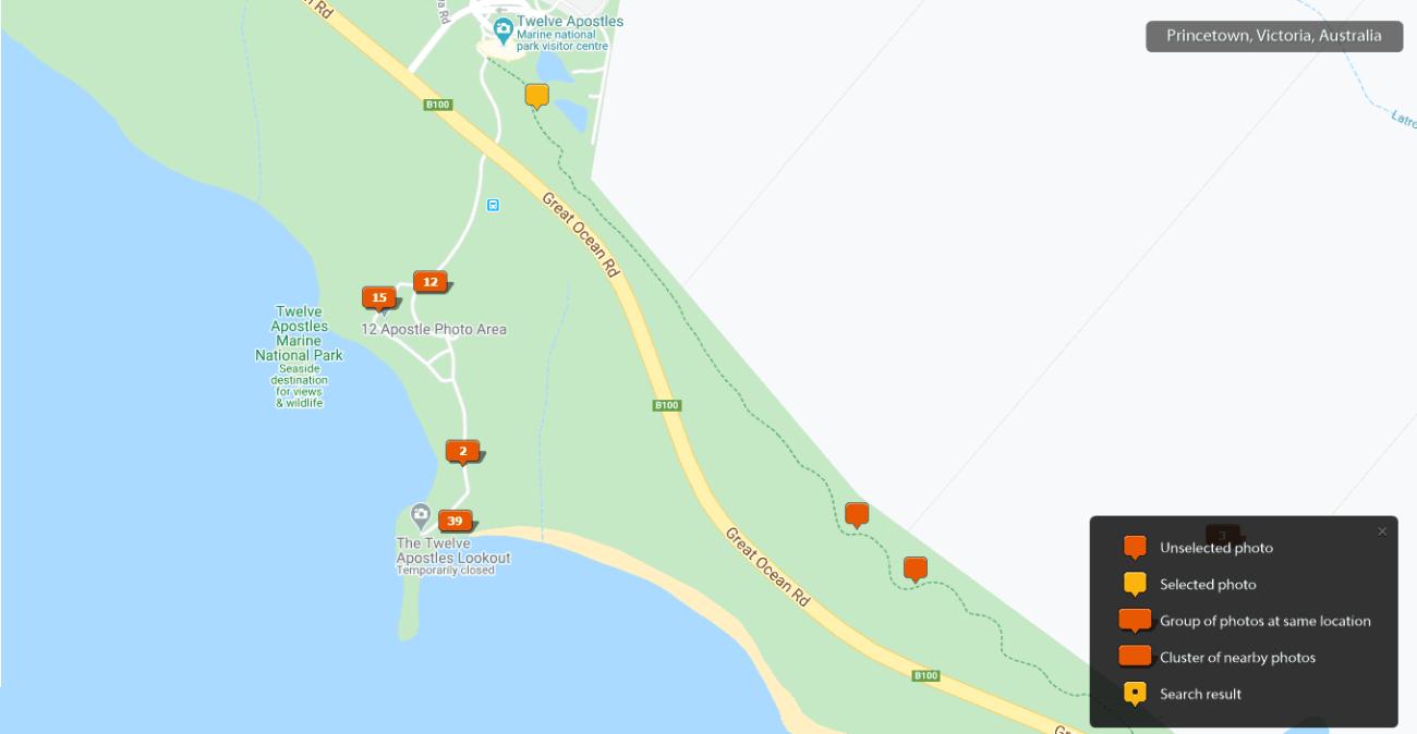 Twelve Apostles - Great Ocean Road Photos Map