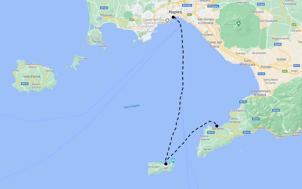 Capri Travel Guide - Capri Ferry Boat Map