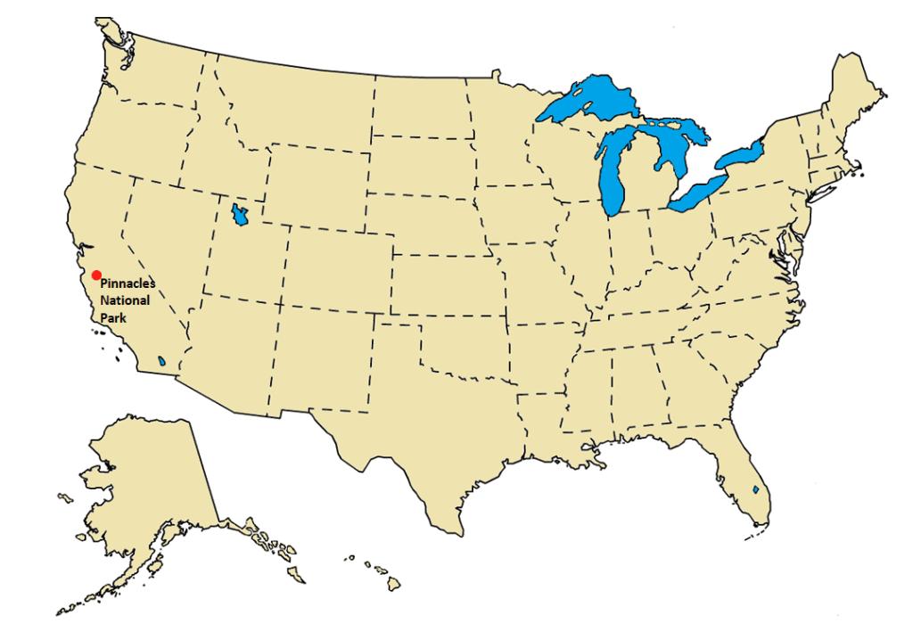 Pinnacles National Park Guide Map