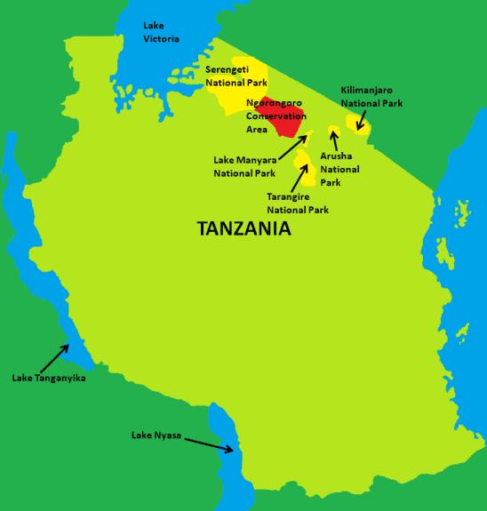 Ngorongoro Crater Map