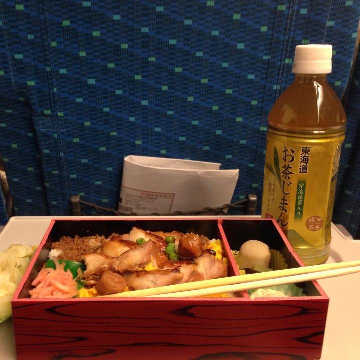 Bento box on the Shinkansen