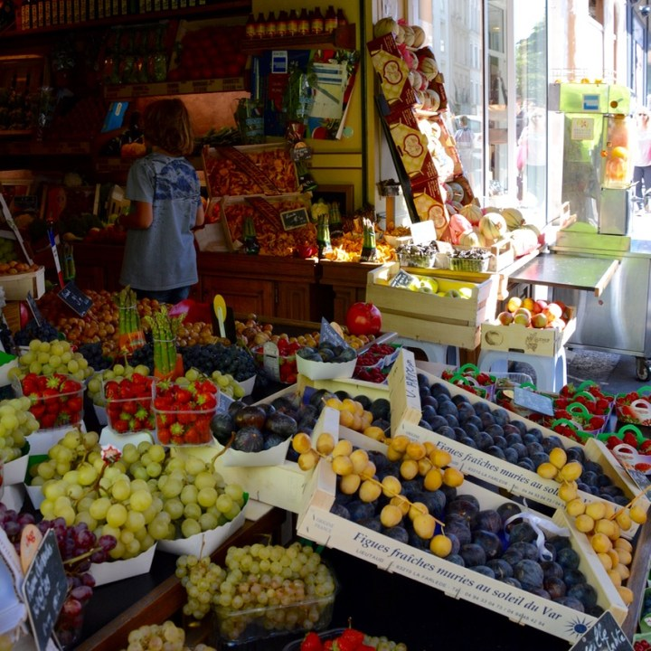 Paris France montmatre fruit stall